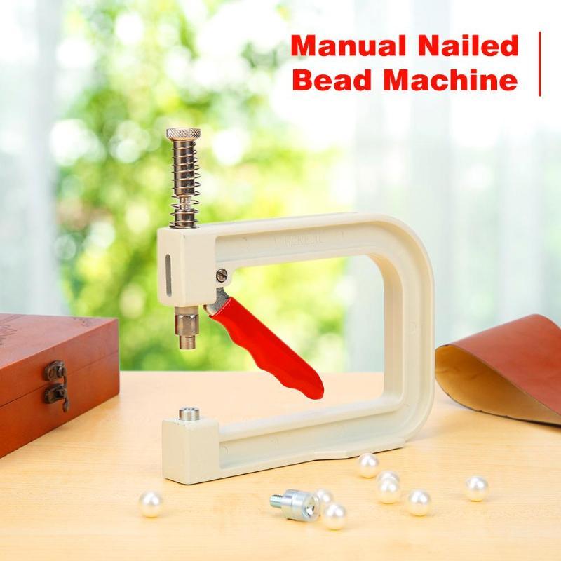 Clothes Nailed Beading Machine Manual Jewelry DIY 1 Set Craft Pearl Cap Rivet