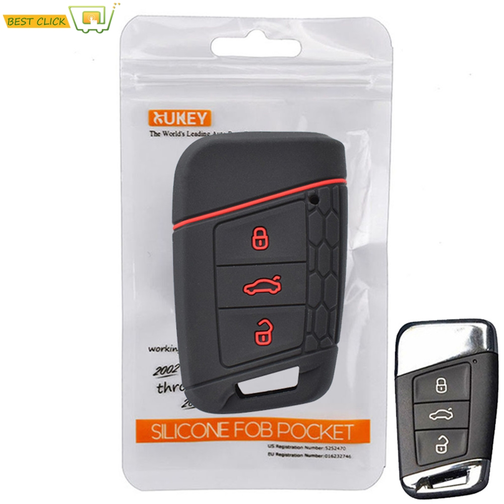 Silicone Remote Key Case For VW PASSAT B8 For Skoda Kodiaq Superb A7 key Fob Shell Cover Skin Jacket Sleeve 3 Buttons