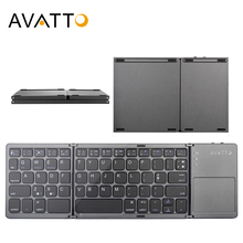 AVATTO Folding Keyboard Touchpad Tablet Phone Windows iPad Bluetooth Mini Wireless-Keypad