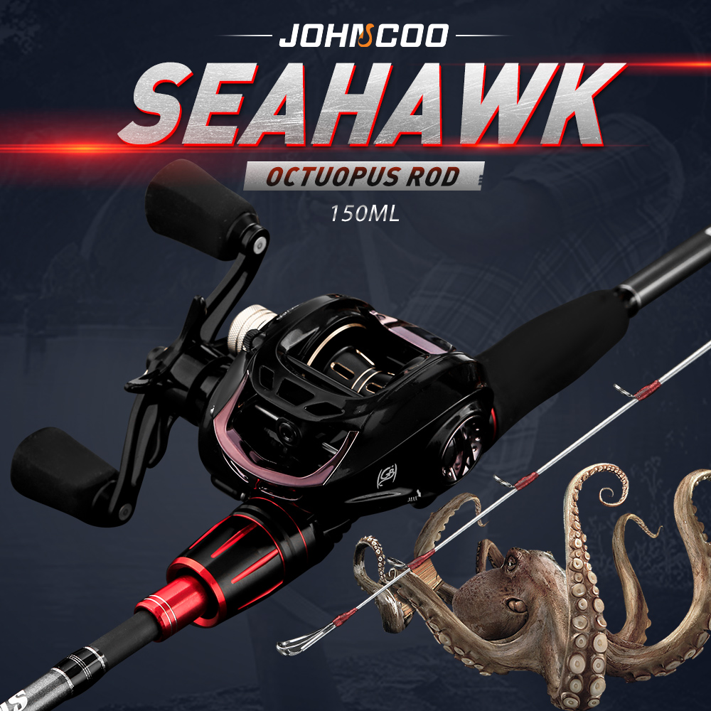 Octopus fishing rod with reel light jigging rod set PE0.6-1.5 boat fishing rod 1.5m ML power high quality title=