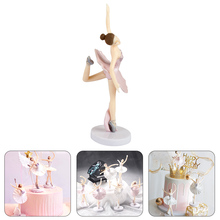 3 pieces/lot Cute ornaments ballerina girl decorating wedding cake topper bride and groom