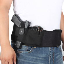 Pistol Holster Case Belt Concealed Magazine-Pouch Elastic Tactical Gun with Girdle Belly-Gun