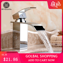 Mixer Tap Sinks Deck-Mount Bathroom-Faucet Vanity Vessel Waterfall Cold Wholesale Retail