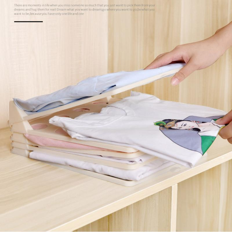 10Pcs Clothes Folding Board Folder Clothes T-Shirt Pants Stacking Organizer