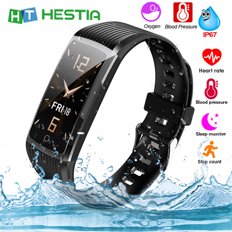 Bracelet Fitness Monitor Health Wristband Smart-Band Pressure-Measurement Pedometer-Heart-Rate title=
