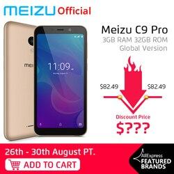 Meizu C9 Pro, 3 ГБ, 32 ГБ, глобальная версия, мобильный телефон, четырехъядерный, 5,45 дюймов, 1440X720 P, передний, 13 МП, задний, 13 МП, 3000 мАч, батарея