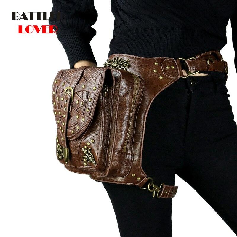 Vintage Steampunk Fanny Bag Steam Punk Retro Rock Gothic Bag Goth Shoulder Waist Bags Packs Victorian Style Womens Mens leg bag