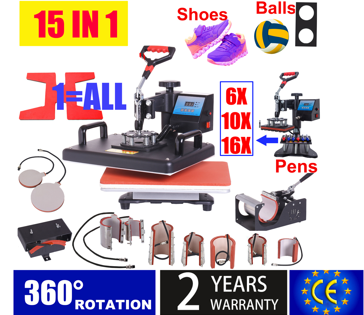 15-In-1 Heat-Press-Machine Pen/football  title=