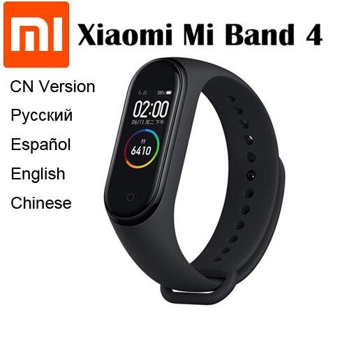 2019 Original Xiaomi Mi Band 4 Smart Band Bluetooth 5.0 0.95inch AMOLED Screen Heart Rate Fitness Waterproof 135mAh Battery