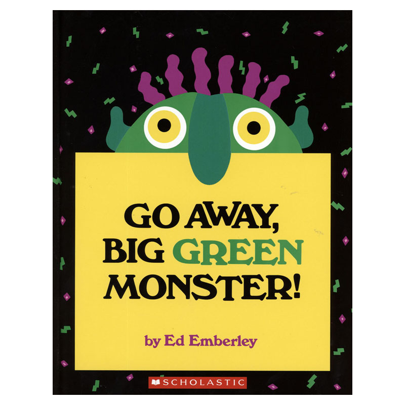 Go Away Big Green Monster Learning English Language Books for Kids Classroom Decoration Montessori Reading Picture Paper Books