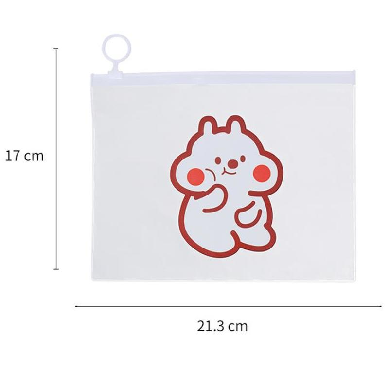 Bear File Bag Kawaii Stationery Pencil Case High Capacity Kawaii Bag Novelty Cute Pen Case Korean Bag Learning Office Supplies