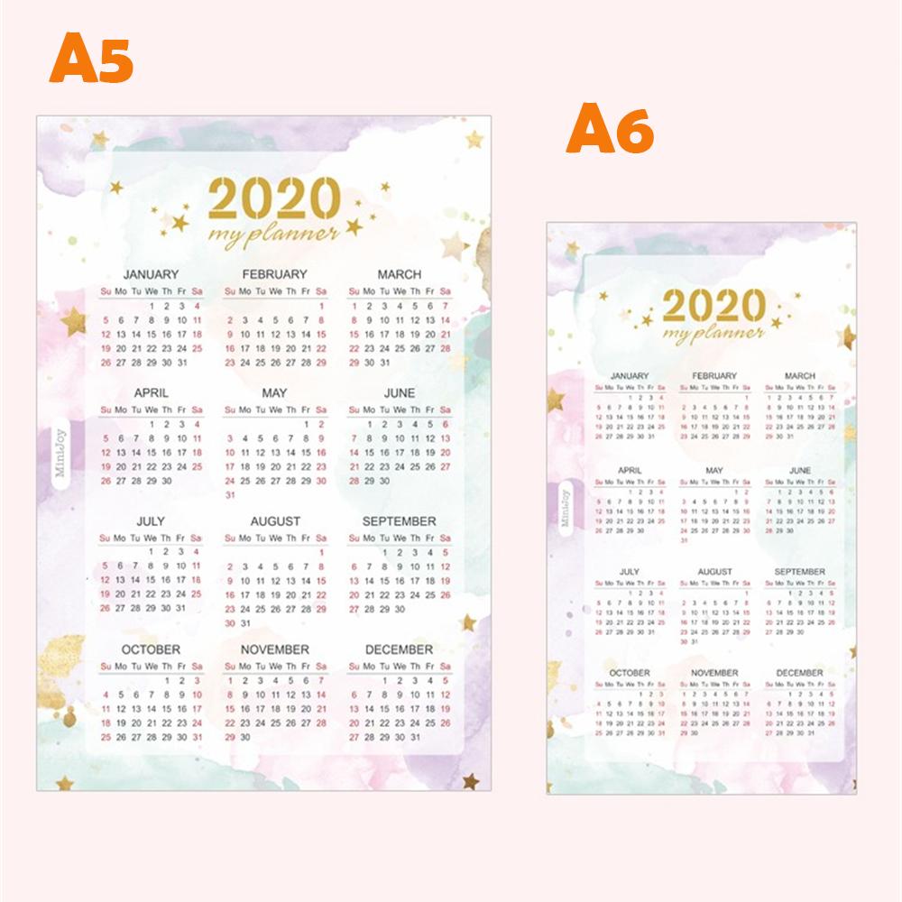 Lo más nuevo 2019 año calendario interior página índice Divisor Separador De Papel z portátil