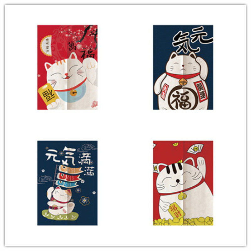 Japanese Retro Linen Door Curtain Noren Bedroom Kitchen Curtains Romantic Blossom Home Entrance Decoration Curtain