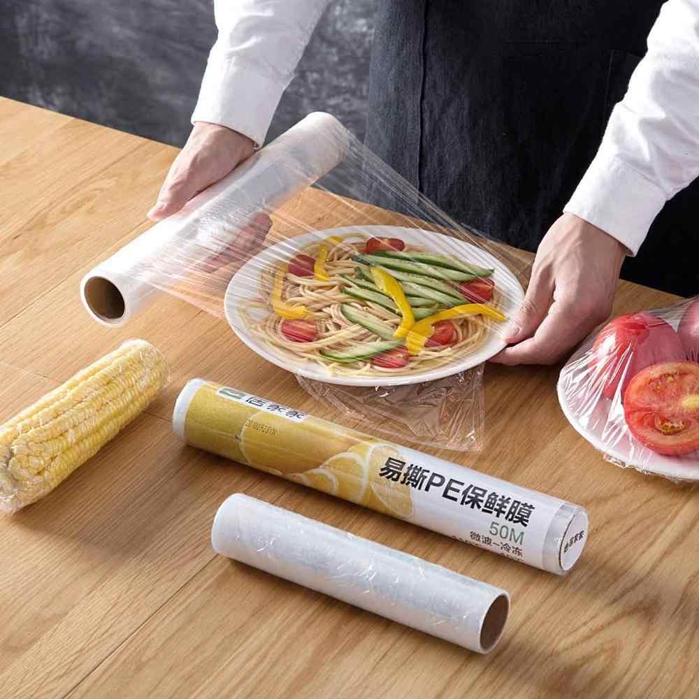 полиэтиленовая пленка в рулоне для дома прозрачная для продуктов