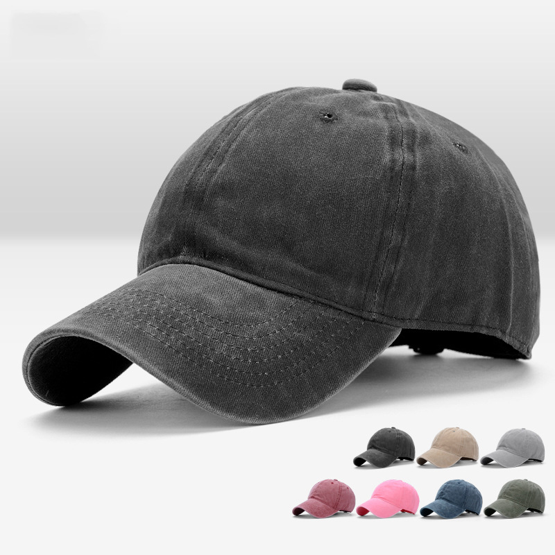 Mens Women Sunhat Caps Polo Cotton Adjustable Baseball Cap Blank Solid Hats