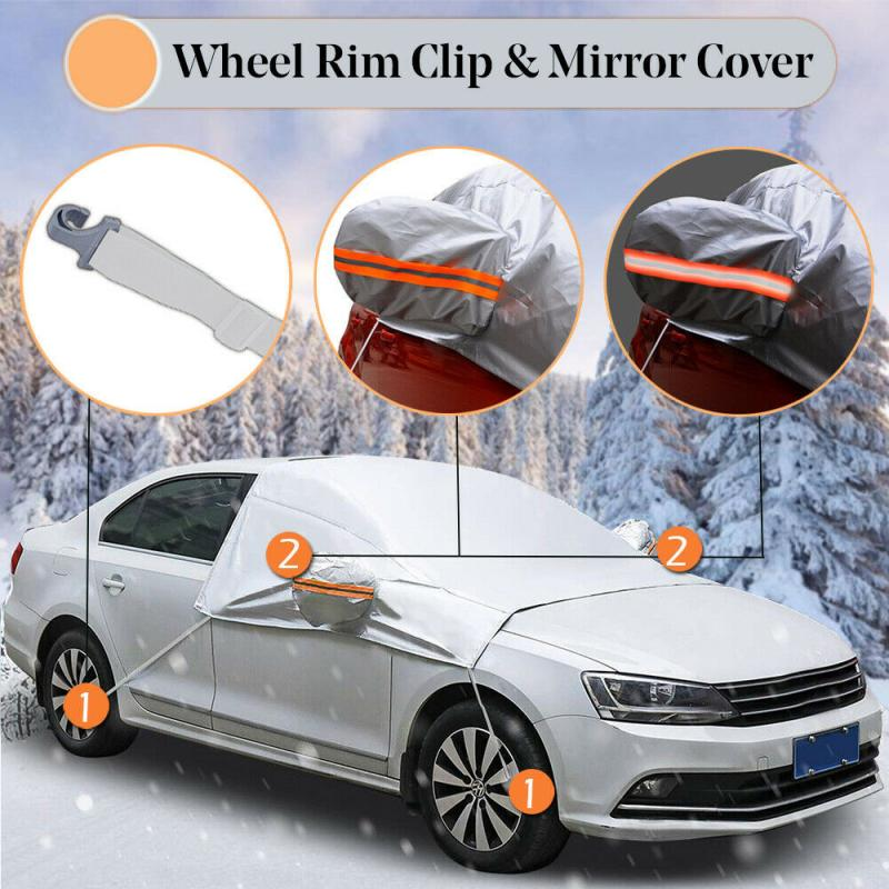 Protector Car-Covers Dust-Frost Ice Rain Universal Accessries Winter Guard Snow title=