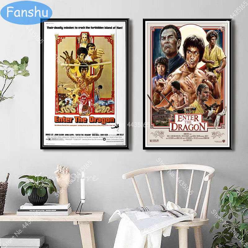 ENTER THE DRAGON-Hot Movie Art Silk Canvas Poster 12x18 24x36 inches