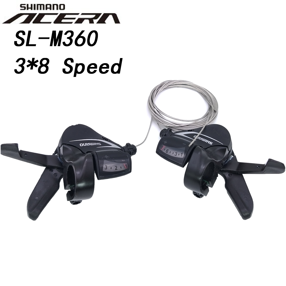 ST-EF65-9 3x9-Speed MTB Bike Bicycle Brake Shifter Levers w// Cable L+R