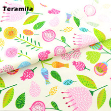 Cotton Fabric Green Floral Quilting Patchwork Fabrics Bedding Clothing Doll Scrapbooking Home Textile Decoration Sewing Cloth CM(Китай)