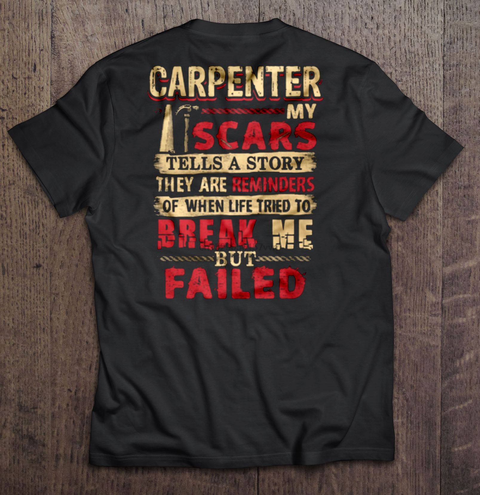 Carpenter My Scars Tells A Story T Shirt Carpenter Tshirt Design