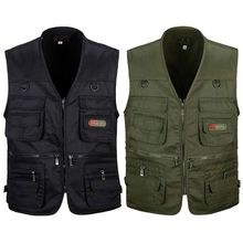 Fishing-Vest Sport-Jacket Photography Multi-Pocket-Zip Hunting Outdoor Men's with