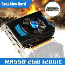 Scheda grafica yv3 Radeon RX550 2GD5 TA 2GB GDDR5 128Bit 1183MHz/6000MHz PC Computer Gaming scheda Video HDMl-compatibile DVI-D + DP