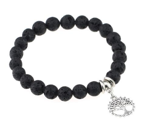 High Quality Tiger Eye Buddha Crown Love Pendant Bracelets Natural Stone Lava Round Beads Elasticity Rope For Men Women Jewelry