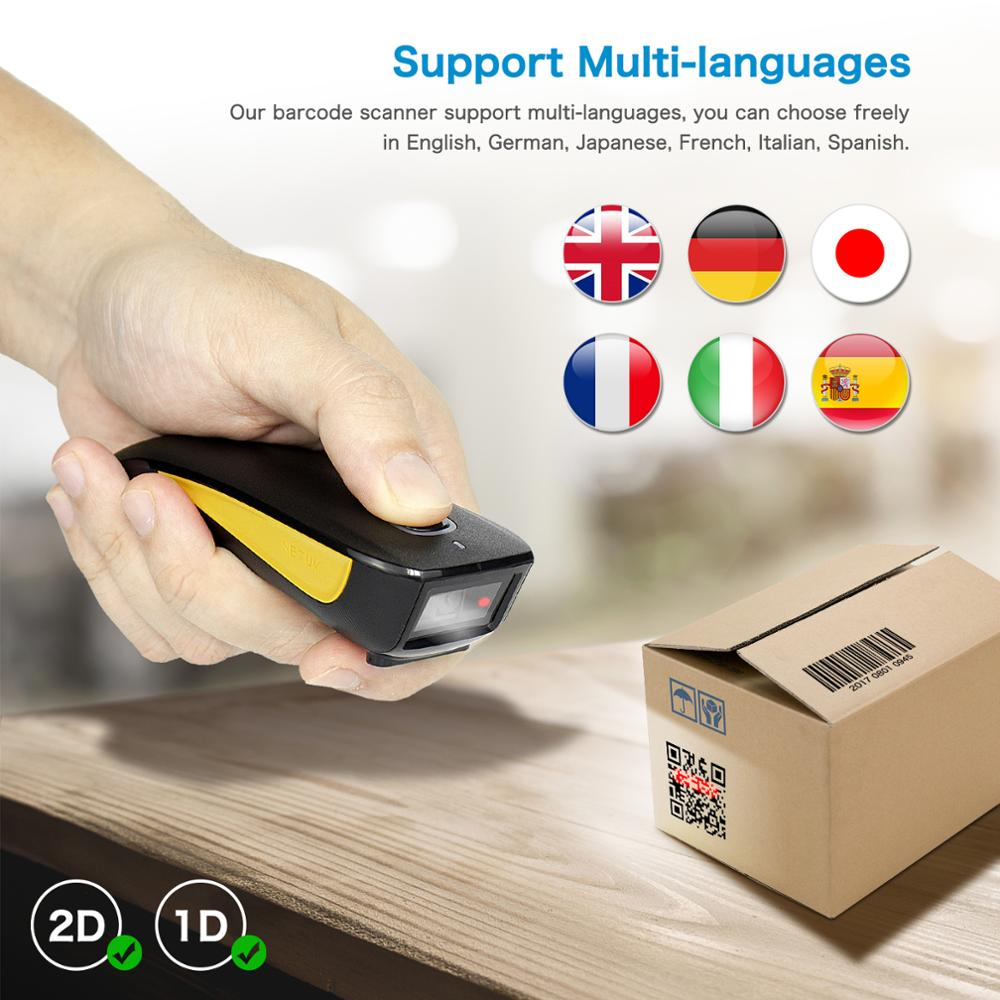 NETUM Barcode Scanner Qr-Reader Data-Matrix Bluetooth 2D Wireless Pocket Android-Windows title=