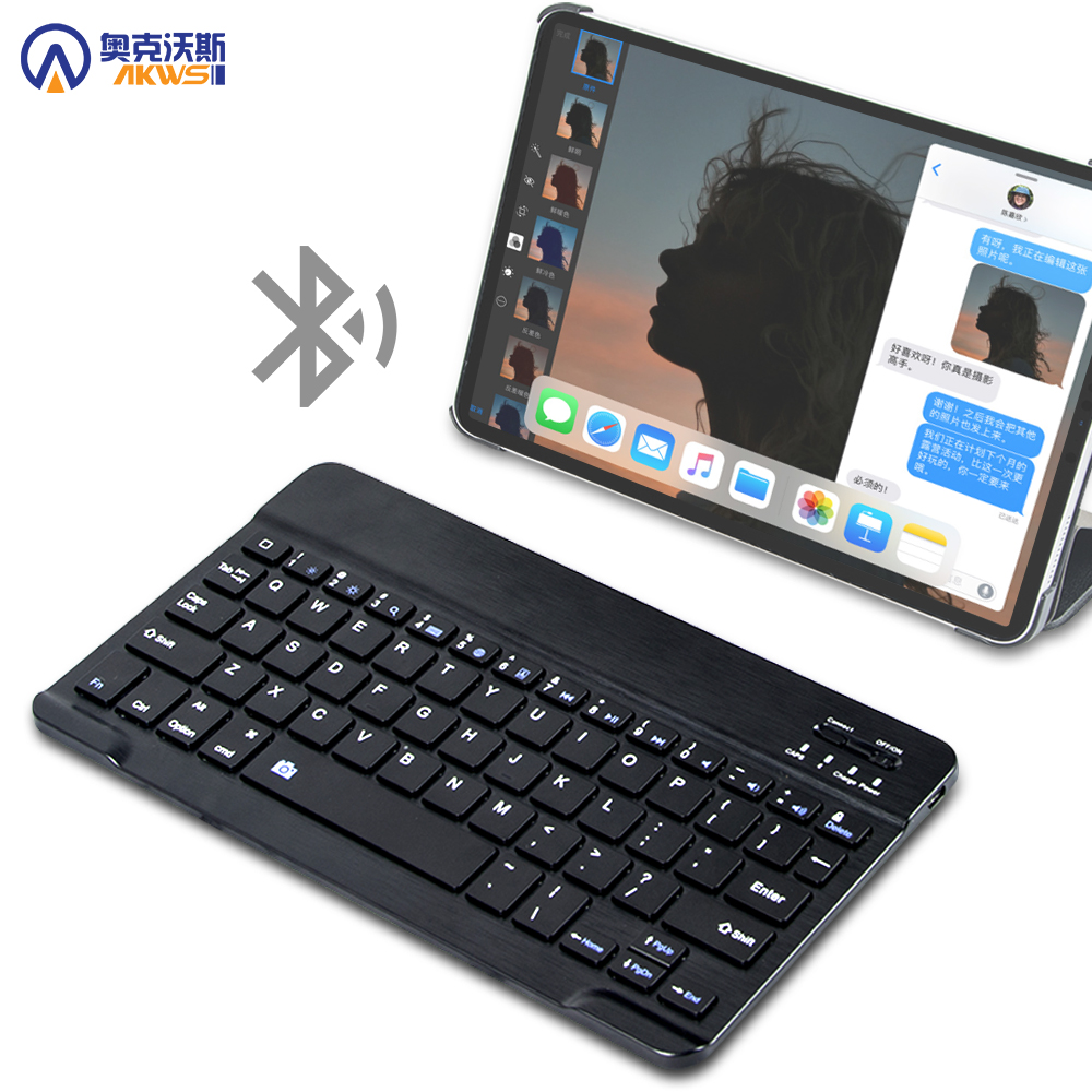 Bluetooth-Keyboard Huawei Portable Wireless for Samsung Xiaomi with IOS Android-System title=