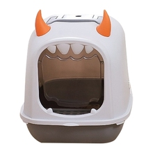 Litter-Box Cats Toilet Fully-Enclosed Splash-Proof And Flip-Type Large