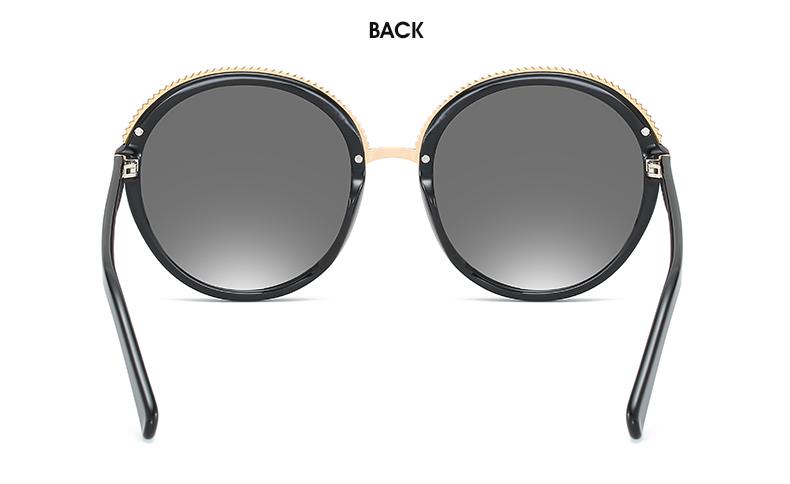 Women Sunglasses Frame Glasses Polariod Lens UV400 Polarized Sunglasses Women Fashion Round Frame Eyewear Glasses (25)