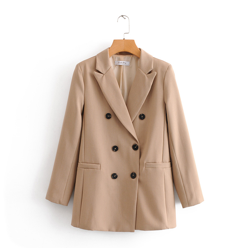 VomVoa 2020 Spring New Korean Fashion Western-style Double Breasted Commuter OL Long Sleeve Loose Suit 27373