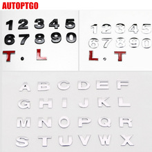 Decal Sticker Badge Metal Letters Car-Moto-Emblem A B 8 9 7 for 1-2-3-4-5-6 0 Z Q C-D-E-F