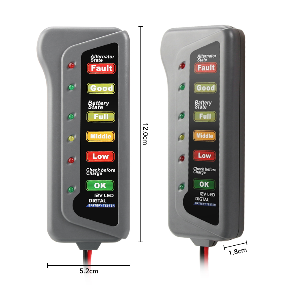 Car Battery /& Alternator Tester for Suzuki Ignis 12v DC Voltage Check