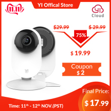 YI Surveillance-System Home-Camera White Ip-Security Night-Vision Nanny/pet-Monitor Indoor