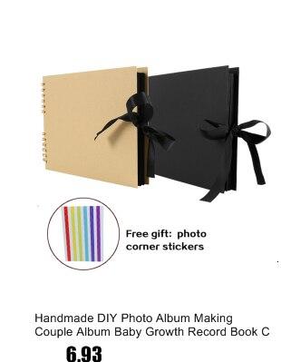 Accesorios de bricolaje en Blanco Libro Memorial Cuadrado álbumes hecho a mano de madera álbum de fotos