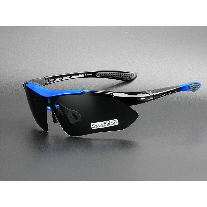 Профессиональные велосипедные очки COMAXSUN, поляризационные велосипедные очки для занятий спортом на открытом воздухе, солнцезащитные очки UV 400 с 5 линзами TR90 2 Style