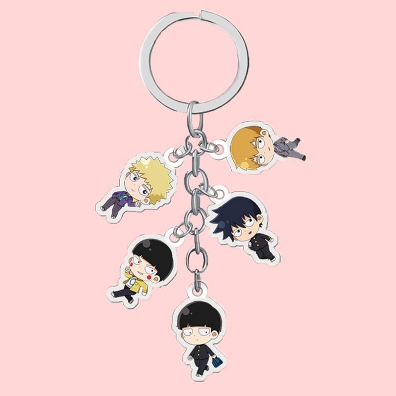 Anime Mob Psycho 100 Keychain Shigeo Kageyama Key Chain Ritsu-kun Icon Collection Key Rings For Bag