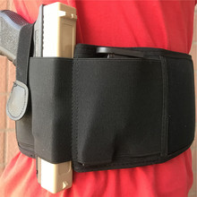 Tactical Belly Band Pistol Holster Concealed Carry Gun Holder Girdle with Magazine Pouch Elastic Waist Belt Holsters