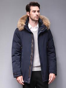 Blackleopardwolf 2019, Зимняя мужская куртка, модное пальто, парка для мужчин, Аляска верхняя одежда со съемным роскошным мехом енота, BL-1001M