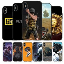S BATTLEGROUNDS PUBG black Silicone Phone Case For iPhone 12 XR XS Max 5 5S SE 2020 6