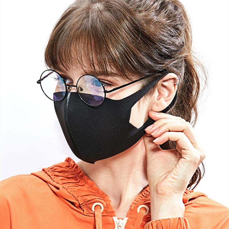 6 pcs Adult Black Sports Outdoor Cycling Mask to Prevent New Crown Virus Travel Antiviral Coronavirus Sports Cycling Masks title=