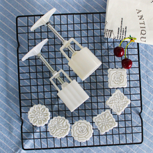 Mooncake-Mold-Set Decoration-Tool Flower Hand-Pressure Fondant-Moon DIY Round/square