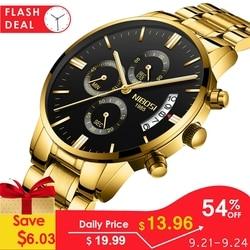 Часы NIBOSI мужские водонепроницаемые повседневные Роскошные брендовые кварцевые, армейские, спортивные деловые часы мужские наручные часы ...