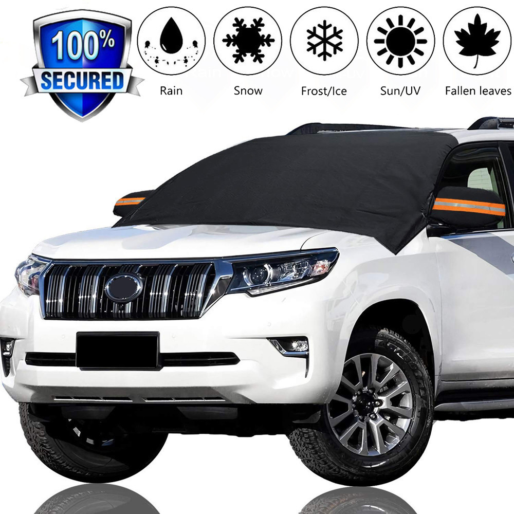 Visor Car-Covers Ice-Protector Sun-Shade Front Rear-Windshield-Cover-Block Snow 4 Exterior title=