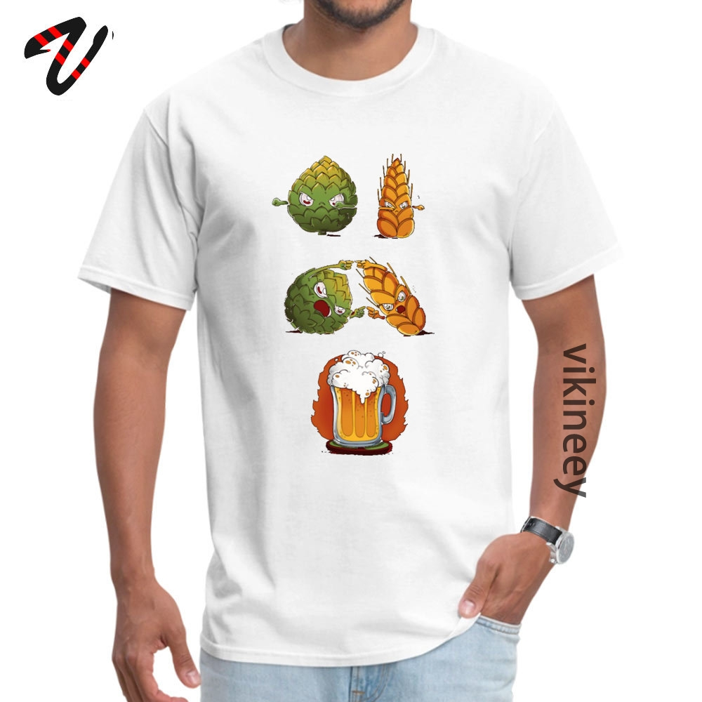 Cotton Youth Short Sleeve BEERFUSION T-Shirt comfortable Tops Shirt Company Leisure Round Neck Tops Tees Drop Shipping BEER-FUSION0705 white