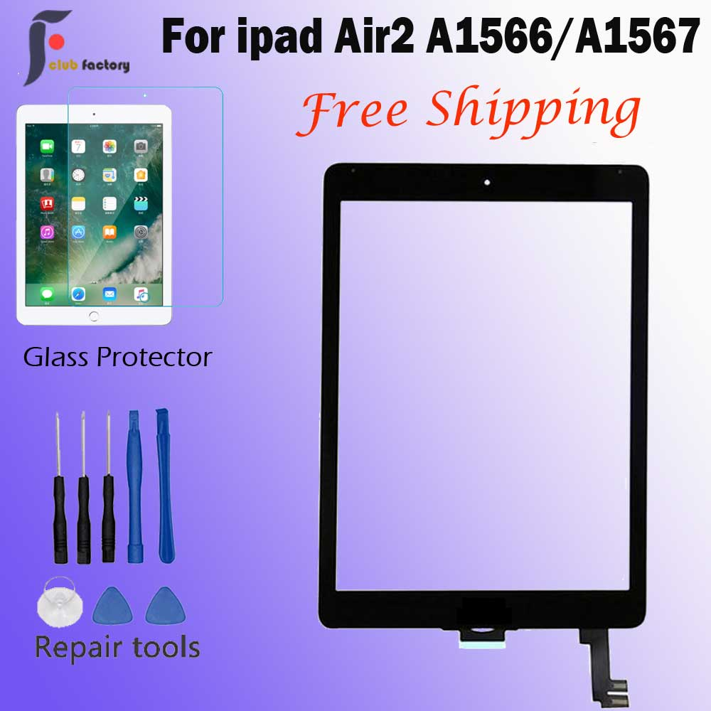 Lens-Sensor Digitizer A1567 Touch-Screen iPad Front-Glas for Air2 title=