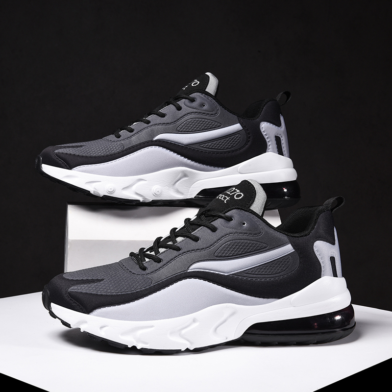 Men Running Shoes Male Sneakers Comfortable Athletic Shoes Couple Air Cushion Trainers Mesh Multicolor Stitching Sport Footwear title=