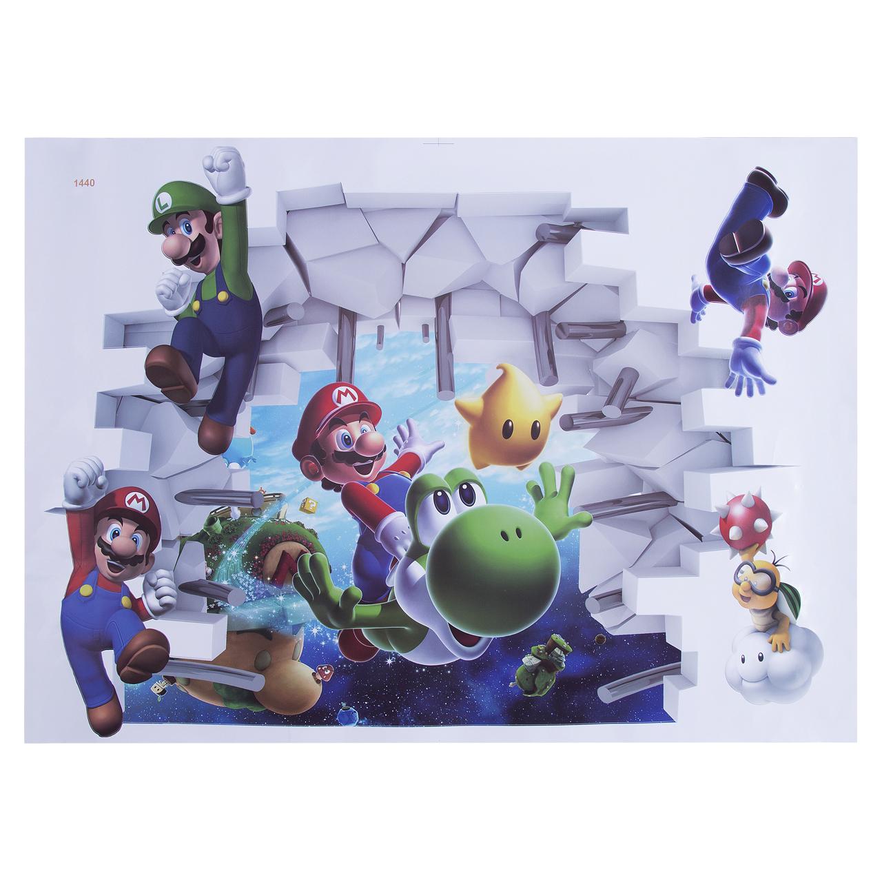Papel de parede Super Mario 3D decoração 50x70CM