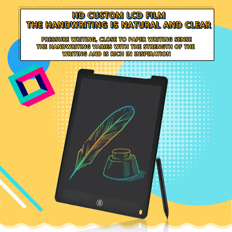 12 Inch LCD Writing Tablet Electronic Drawing Doodle Board Digital Colorful Handwriting Pad Gift for Kids and Adult Protect Eyes 2